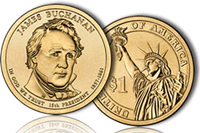 James Buchanan Presidential $1 Coin Available August 19, 2010